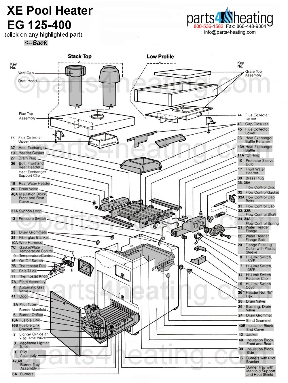 XE Pool Heater EG 125-400