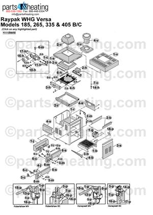 Pool Heaters Raypak Versa 185B-405B/Versa 185C-405C