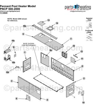 Pool Heaters Teledyne Laars Pennant PNCP repair parts