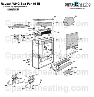 Pool Heaters Raypak Spa-Pak 053B