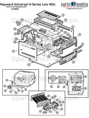Pool Heaters Hayward Universal H-Series Low NOx