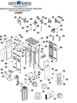 Parts4heating.com: Raypak Xtherm H7-2005