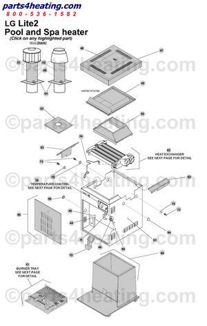 Pool Heaters Teledyne Laars Lite 2 LG 175