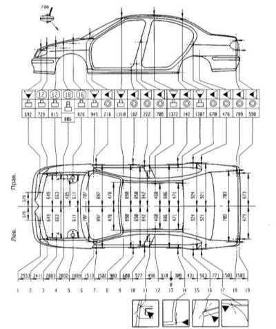 Руководство по ремонту Renault Megane (Рено Меган) 1996-2002 г.в. 14.0 Контрольные кузовные