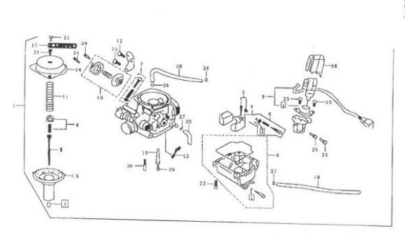 Gy6 150cc Carburetor Parts Diagram. Parts. Wiring Diagram