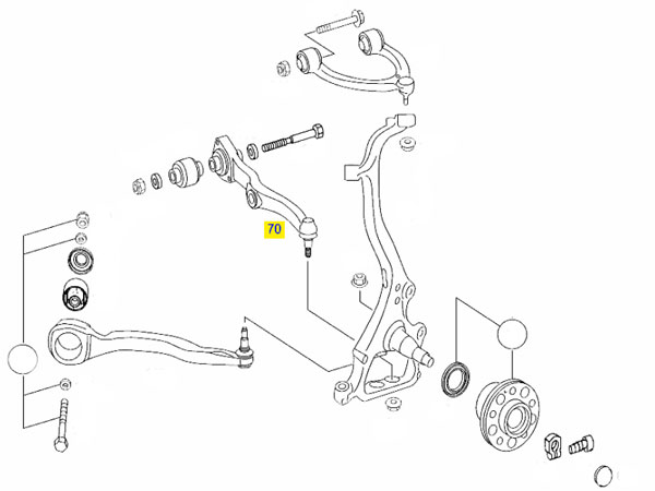W221 S Class 2006-2013 Front Lower Control Arm Left Hand