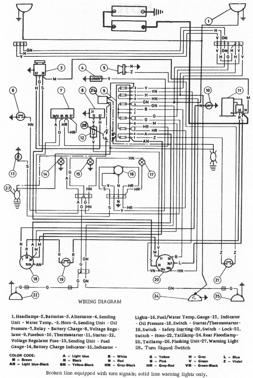 Ford 3000 Sel Tractor Wiring Diagram Color Coded • Wiring
