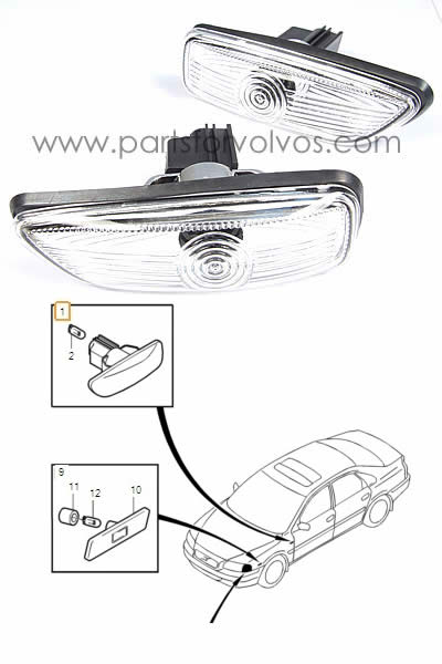 S60/S80/V70/XC90 Series Direction Indicator Styling Lamp