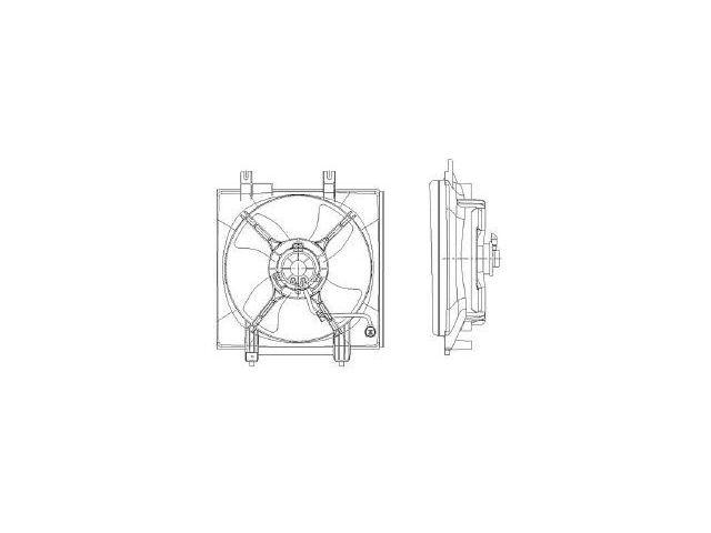 For 2005-2009 Subaru Legacy Radiator Fan Assembly 53723PK