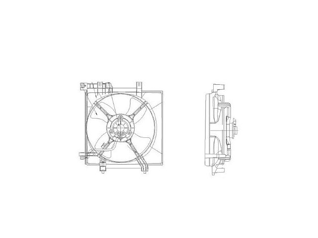 Fits 2008-2011 Subaru Impreza Radiator Fan Assembly