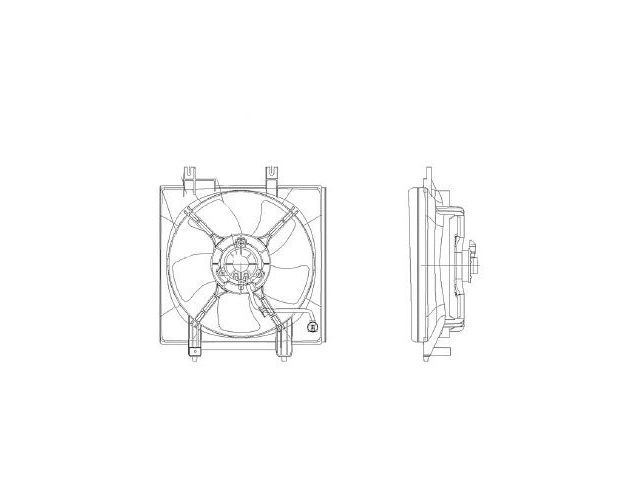 Fits 2009-2013 Subaru Forester Radiator Fan Assembly