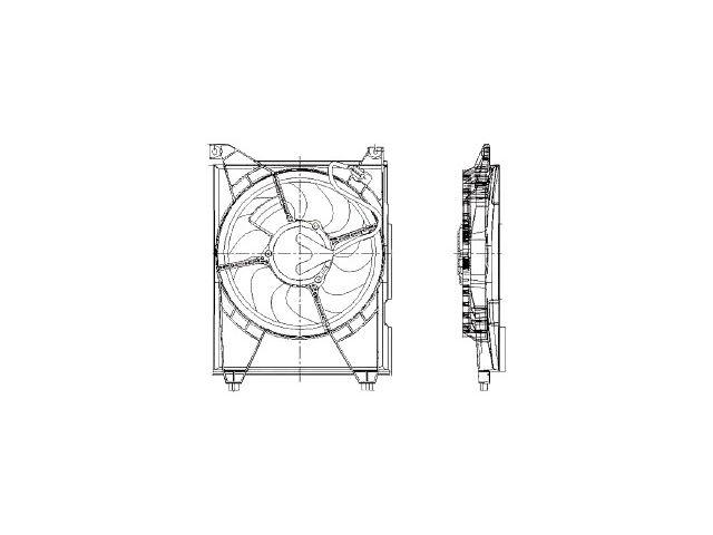 Fits 2001-2006 Kia Optima Radiator Fan Assembly 48653NZ