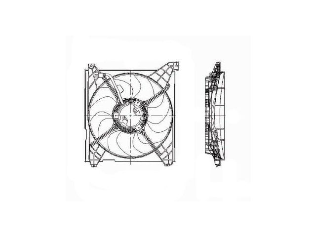 Fits 2001-2006 Kia Optima Radiator Fan Assembly 45356SP