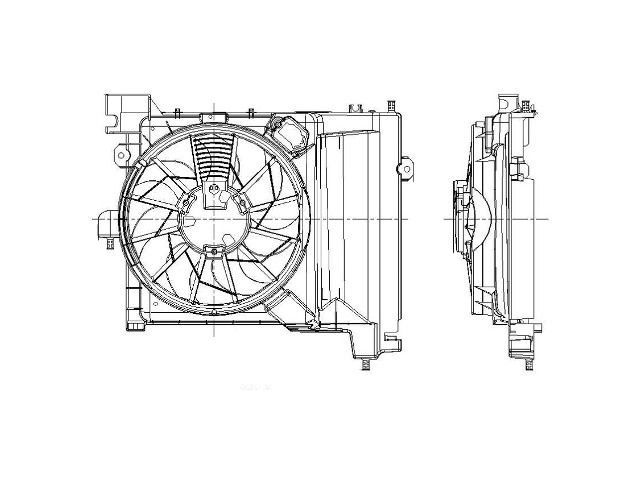 For 2004-2009 Dodge Durango Auxiliary Fan Assembly 87255FM
