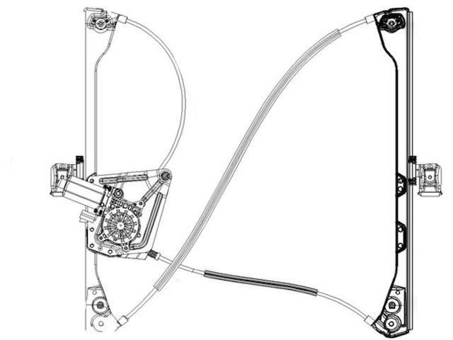 For 2002-2007 Buick Rendezvous Window Regulator Front Left