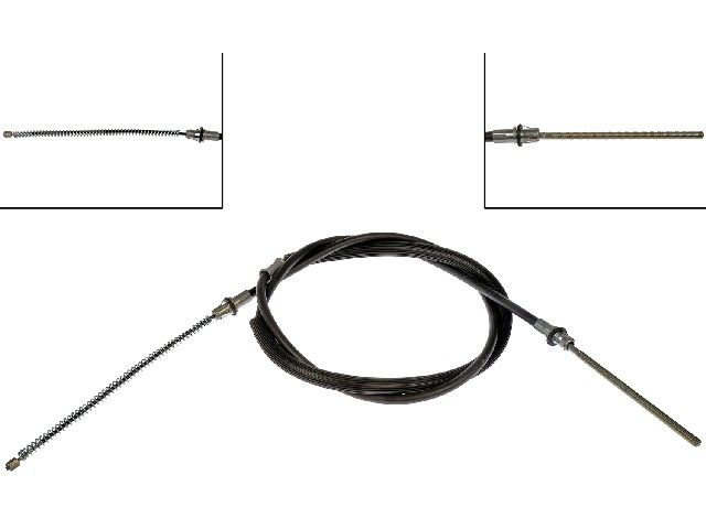 For 1990-2000 Chevrolet C3500 Parking Brake Cable Rear