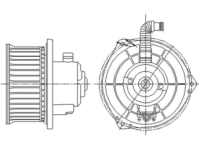 Fits 1993-1999 Nissan Altima Blower Motor GPD 81863JR 1996