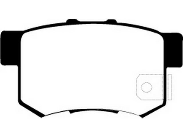 For 2002-2006 Acura RSX Brake Pad Set Rear EBC 46766ZG