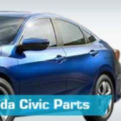 99 Civic Headlight Wiring Diagram Pressure Switch Honda Parts Partsgeek Com Replacement