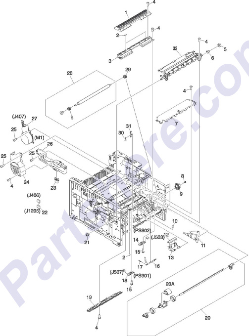 Parts for the HP LaserJet 2300 series