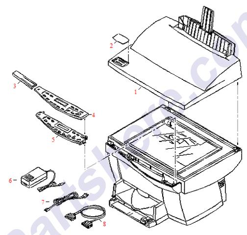 8120-6317 Printer Parts Diagram