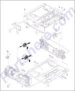RG5-6769-000CN HP Paper size detection assembly at