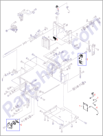 RM1-0286-000CN HP Paper level sensor gear assemb at