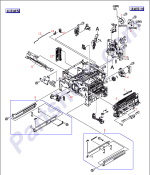 RM1-1029-000CN HP Lifter drive assembly support at