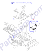 RM1-1945-080CN HP 250-sheet paper cassette tray at