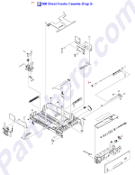 RM1-2900-000CN HP 500-sheet paper cassette tray at