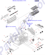 RM1-4263-000CN HP Paper feed guide assembly at Partshere.com