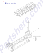 RM1-4970-000CN HP Paper delivery assembly (duple at
