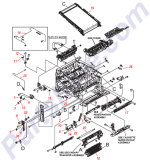RM1-4980-000CN HP Lower pick-up guide assembly P at