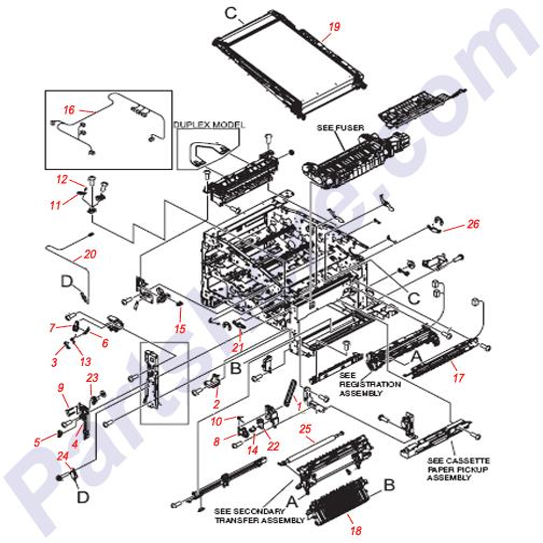 RM1-4980-000CN Printer Parts Diagram