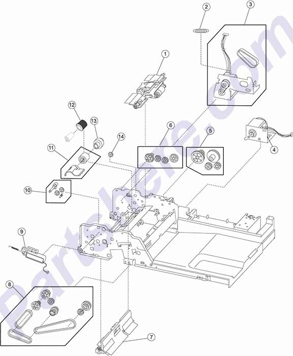 40X4540 printer picture diagrams and photos