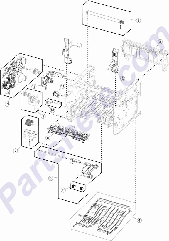 40X8299 printer picture diagrams and photos