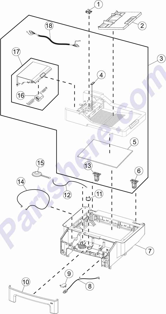 40X7546 printer picture diagrams and photos