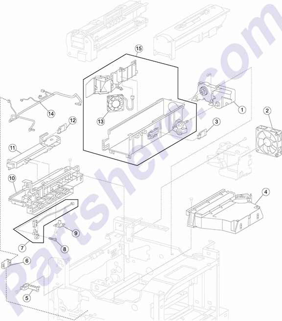 Hp Printer Parts Diagram Dell Printer Parts Diagram