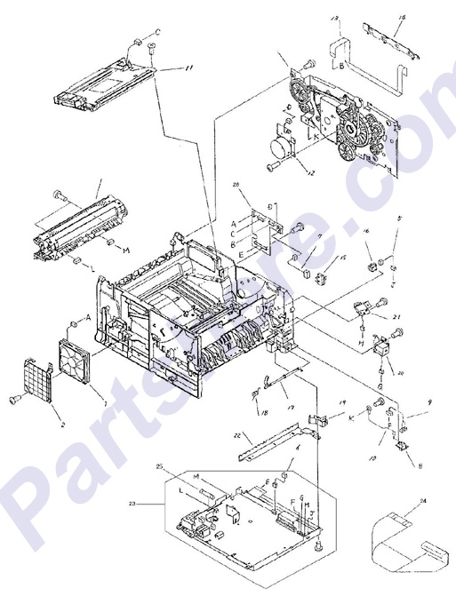 Parts diagram2 picture for HP LaserJet 2100 series