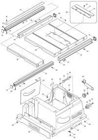 Makita 2704 260mm Table Saw Spare Parts - Part Shop Direct