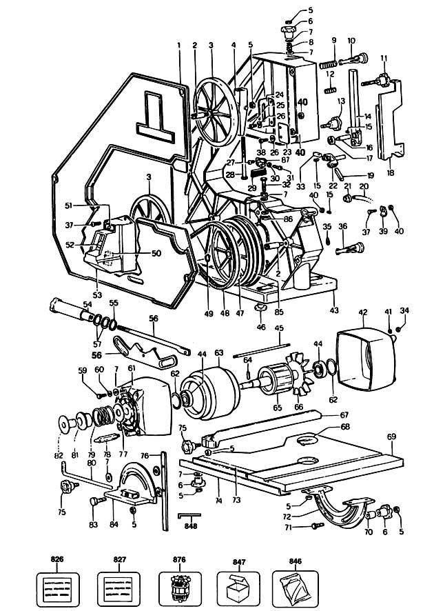 Black & Decker BD339-----A Type 1 Bandsaw Spare Parts