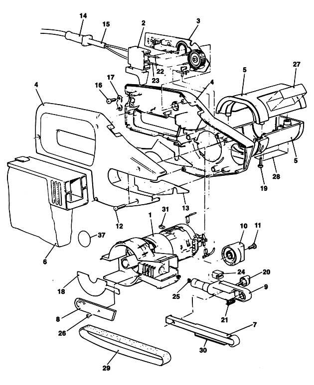 Black & Decker SPEC292E Type 1 Powerfile Spare Parts