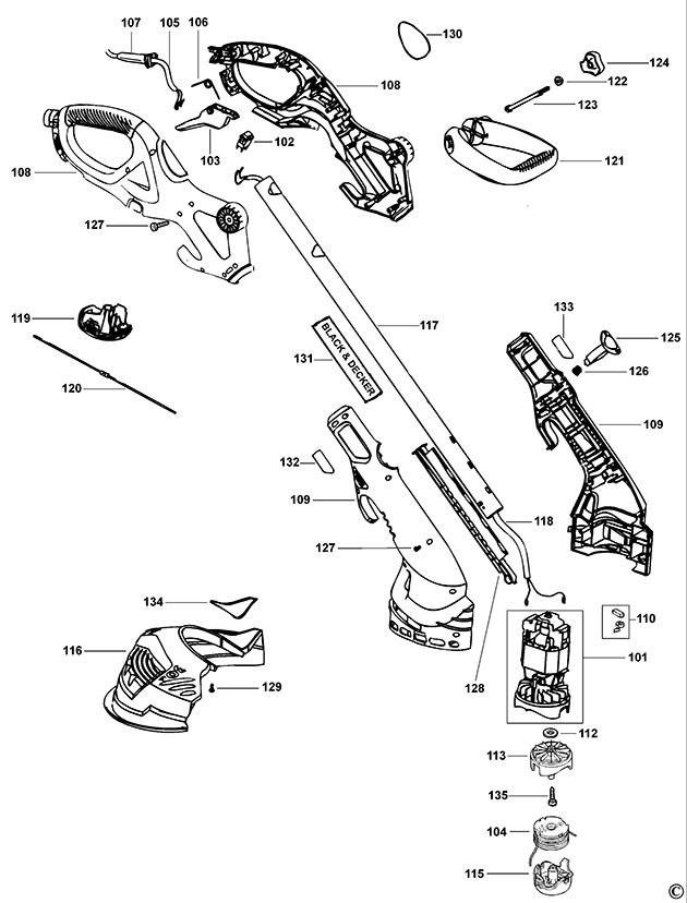 Black & Decker GL680 Type 1 String Trimmer Spare Parts