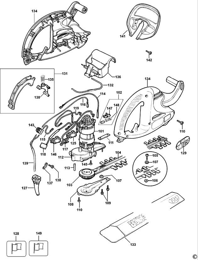 Black & Decker GT250 Type 4 Hedgetrimmer Spare Parts