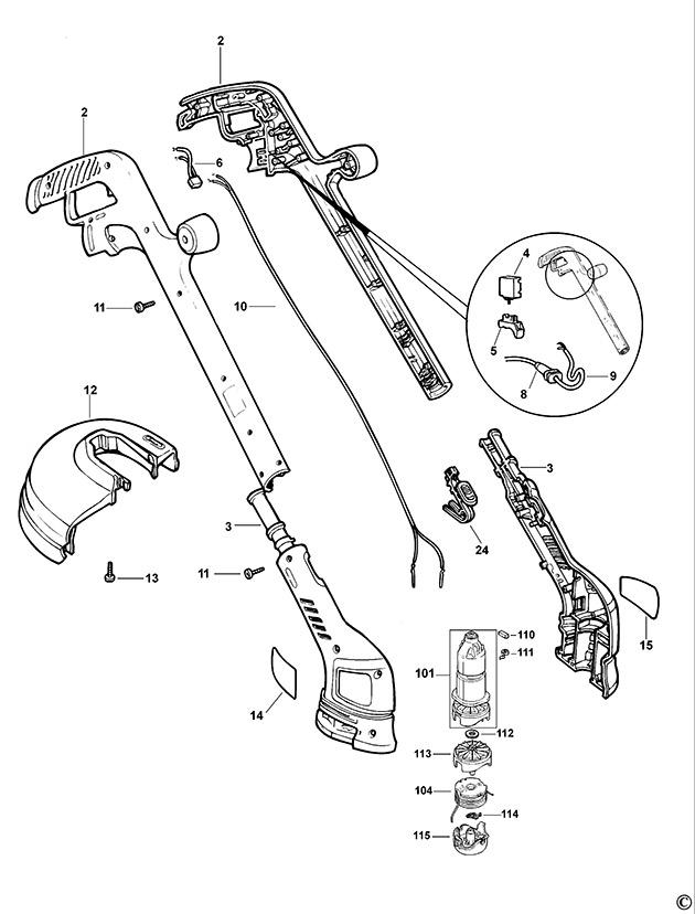 Black & Decker GL546SC Type 1 String Trimmer Spare Parts