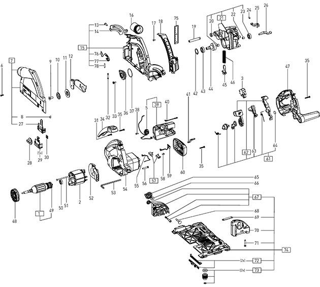 Festool 500602 Ts 55 Rebq Circular Saw 230v Spare Parts