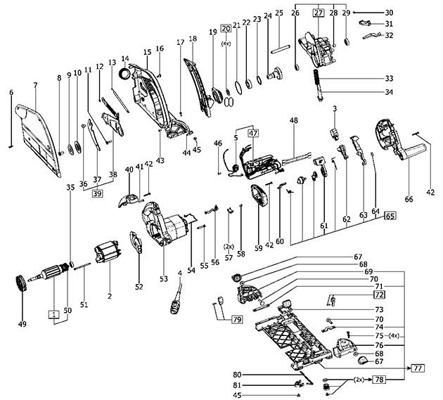 Festool 492121 Ts 75 Ebq Gb Circular Saw 240v Spare Parts