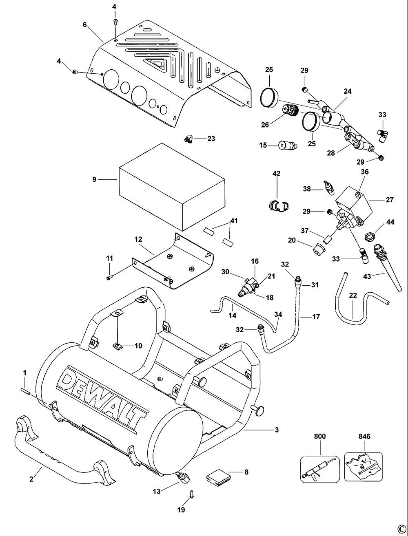 DeWalt D55155 Type 1 Compressor Spare Parts