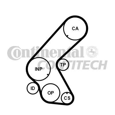 VAUXHALL CORSA C 1.7D Timing Belt 00 to 06 Contitech
