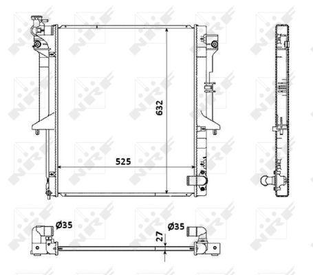Radiator fits MITSUBISHI L200 KB4T 2.5D 05 to 15 4D56HP 5